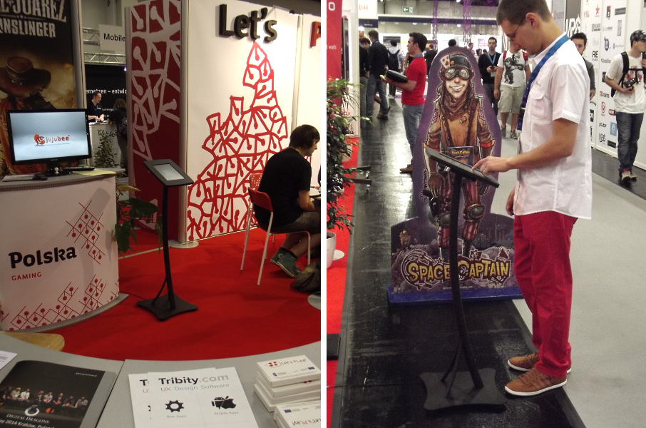 Infokioski Mobi-Stand na targach Gamescom
