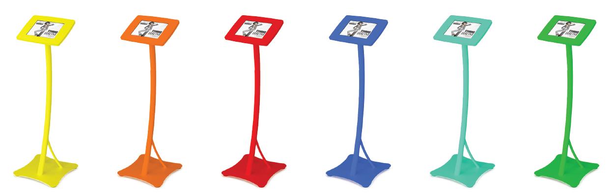 Paleta kolorów kiosków multimedialnych Mobi-Stand